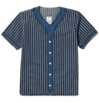Visvim Dugout Indigo Dyed Cotton Shirt Blue