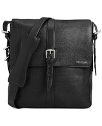 Cole Haan Pebbled Leather North South Messenger Bag Black