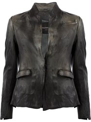 Numero 10 Leather Jacket Grey