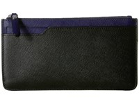 Ecco Iola Long Travel Wallet Black Deep Cobalt Wallet Handbags