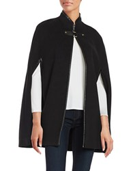 Karl Lagerfeld Buckle Accented Cape Black
