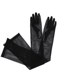 Gucci Clarine Long Tulle Gloves