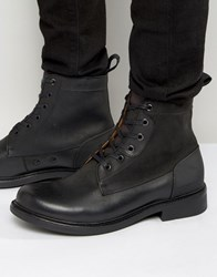 G Star Myrow Lace Up Leather Boots Black