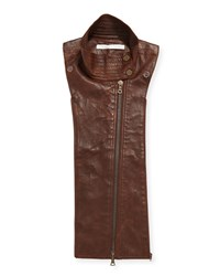 Lamb Leather Moto Dickey Brown Women's Veronica Beard