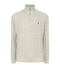 Polo Ralph Lauren Silk Cable Knit Jumper Male Grey