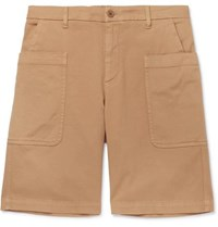 Barena Cotton Blend Twill Shorts Beige