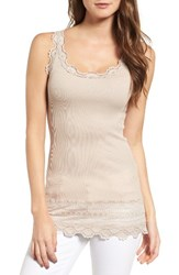 Rosemunde Women's Silk And Cotton Rib Knit Tank Cacao