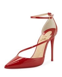 Christian Louboutin Fliketta Patent 100Mm Red Sole Ankle Wrap Pump