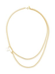 Wouters And Hendrix My Favourite Safety Pin Pearl Necklace Yellow And Orange