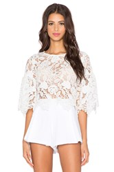 Alexis Valery Bell Sleeve Crop Top White