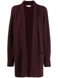 Vince Open Front Knit Cardigan Red