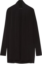 The Row Sua Stretch Crepe Cardigan Black
