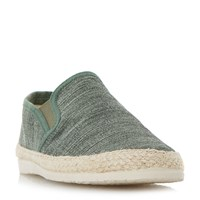 Dune Finnick Flecked Canvas Espadrille Shoes Green