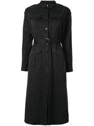 Loveless Belted Shirt Dress Black