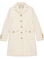 Gucci Wool Coat With Double G White