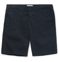 Ami Alexandre Mattiussi Slim Fit Cotton Twill Chino Shorts Navy