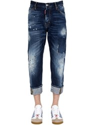 Dsquared 20Cm Workwear Writings Denim Jeans