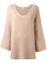 Chinti And Parker Flared Sleeve Jumper Nude Neutrals