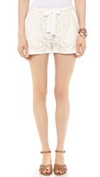 Sea Lace Track Shorts Cream