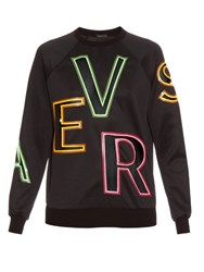 Versace Cut Out Logo Sweatshirt Black Multi