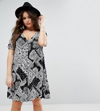 Alice And You Paisley Patchwork Tea Dress Black