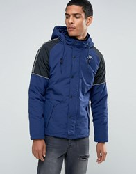 Kappa Parka With Contrast Taping Blue