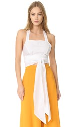 Tome Sleeveless Bustier White