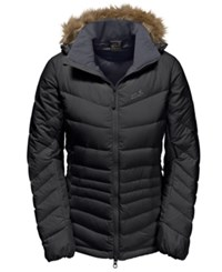 Jack Wolfskin Selenium Bay Jacket From With Faux Fur Trim From Eastern Mountain Sports Black