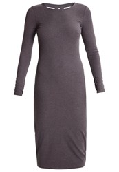 Evenandodd Summer Dress Grey Mottled Grey