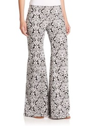 Nightcap Clothing Printed Bell Bottom Pants Black White
