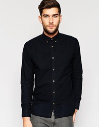 Only And Sons Shirt With Button Down Collar Black