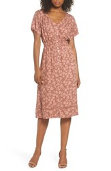 Knot Sisters Farrell Floral Smock Waist Dress Sienna Tulips Print