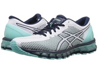 Asics Gel Quantum 360 Cm Aruba Blue White Dark Navy Women's Running Shoes Gray