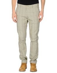 Manuel Ritz White Casual Pants Military Green