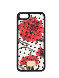 Dolce And Gabbana Printed Dauphine Leather Iphone 5 Case