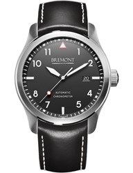 Bremont Solowh Stainless Steel And Leather Watch