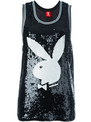 Joyrich Playboy Sequin Tank Top Black
