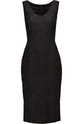 Dolce And Gabbana Brocade Dress Black