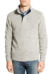 Men's Bonobos 'Donegal' Mock Neck Wool Blend Sweater Light Mist
