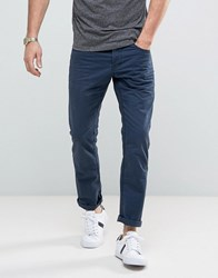 Esprit 5 Pocket Casual Trousers In Navy Navy