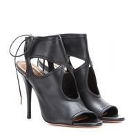 Aquazzura Sexy Thing Leather Sandals Black
