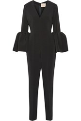 Roksanda Ilincic Margot Crepe Jumpsuit Black