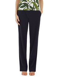 Marc Cain Straight Leg Crepe Trousers Navy