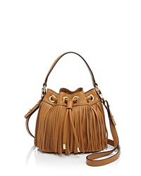 Milly Crossbody Essex Fringe Small Drawstring Caramel