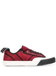 Etro Panelled Plimsoll Sneakers Red