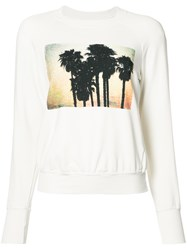 Nsf Palm Tree Print Sweatshirt White