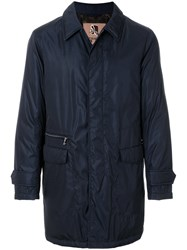 Sealup Classic Fitted Coat Blue