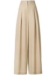 Alberta Ferretti Wide Leg Trousers Nude And Neutrals