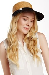 Flora Bella Haley Braided Raffia Canvas Ball Cap Black
