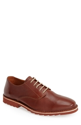 Tommy Bahama 'Gilford' Plain Toe Leather Derby Men Chestnut